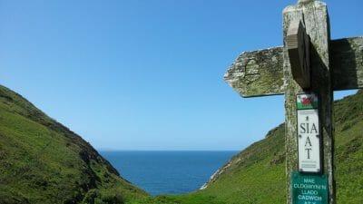 Ceredigion Coast Path - Footpath sign